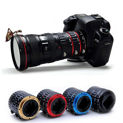 Auto Focus AF TTL Macro Extension Tube Set Ring Adapter For Canon EF EFS Lens