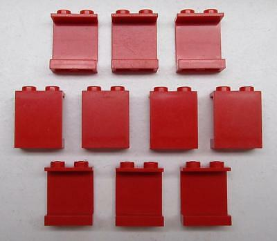 10 LEGO 1x2x2 RED PANELS LOT city town space wall pieces 4864a 4864b vintage