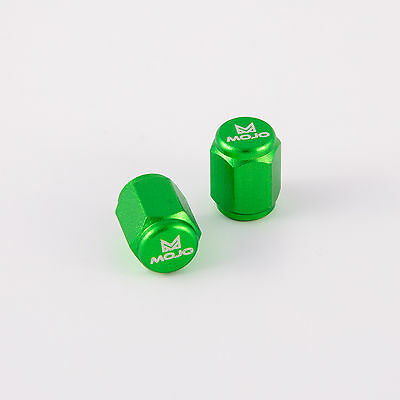 MOJO Anodized Green Valve Stem Caps