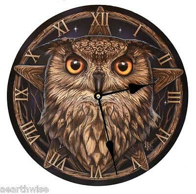 LISA PARKER WISE OWL CLOCK - Wicca Witch Pagan Goth