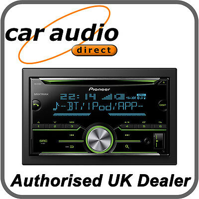 Pioneer FH-X730BT Double DIN Car Stereo CD MP3 USB Bluetooth iPod iPhone Android