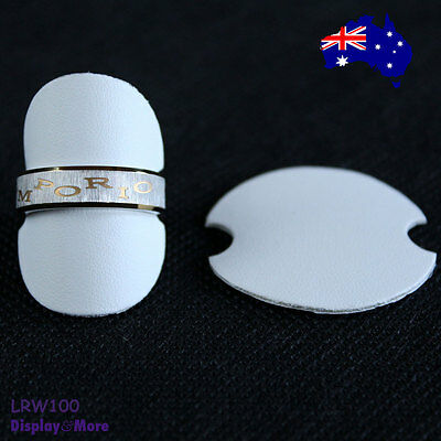 PREMIUM 20X White Leatherette Ring Display Riser-DOUBLE Sided | AUSSIE Seller