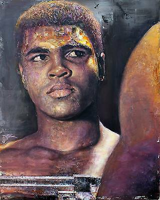 Muhammad Ali Acrylic Art Style Glossy Print Numbered 8x11 Boxing Cassis
