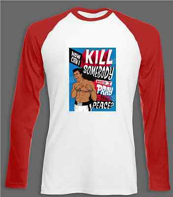 Pray For Peace Muhammad Ali Long Sleeve TShirt Jersey All Sizes Cassius Clay