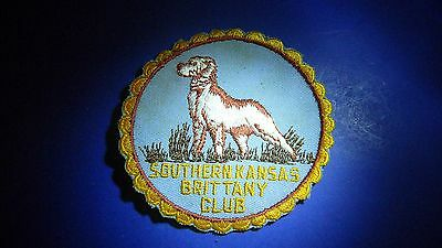 "Southern Kansas Brittany Club Embroidered Sew-on Jacket Patch 4"" dia."