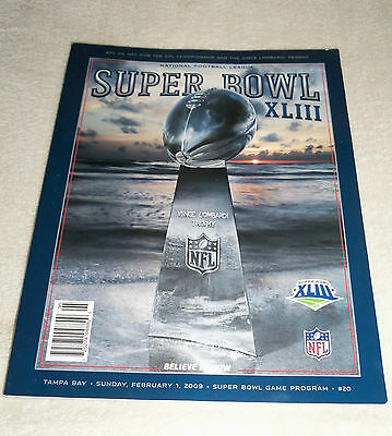 NFL : Pittsburgh Steelers Super Bowl XLIII OFFICIAL PROGRAMME - New