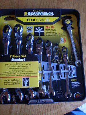 Gearwrench 44005 7pc Flex Ratcheting Wrench Set SAE 7