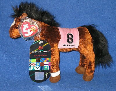 TY BARBARO the HORSE BEANIE BABY - KENTUCKY DERBY EXCLUSIVE w/extra TAG