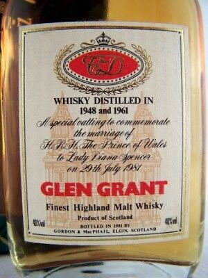 Miniature Dated 1948 & 1961 GLEN GRANT Malt Whisky Isle of Wine