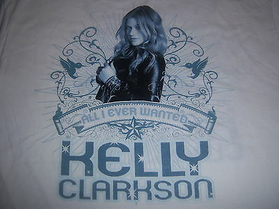 KELLY CLARKSON - 2009 ALL I EVER WANTED TOUR t shirt - LOOKS NEW - (XL)