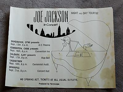 Joe Jackson Night and Day Tour Canadian 1982 RARE B&W Concert Poster GVG C5