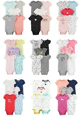 NEW NWT Carter's Girls 5 Pack Bodysuit Sets Newborn 3 6 9 12 Months Unicorn