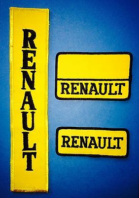 3 Lot Rare Vintage 1970's Renault Sew On Car Club Seat Cover Jacket Patches