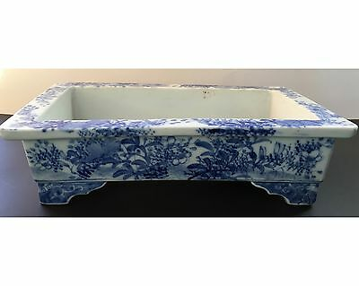 Antique 19th Century Chinese Blue & White Narcissus Planter