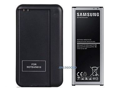 New 3220mAh OEM Battery+Charger For Samsung Galaxy Note 4 SM-N910 N910V N910A