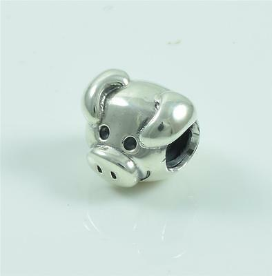 Authentic Genuine Pandora Sterling Silver Playful Pig Charm Bead 791746
