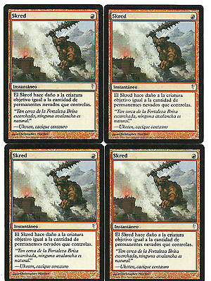 mtg Magic 4x Skred ( Skred ) Spanish Excellent Coldsnap