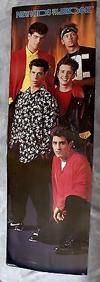 New Kids on the Block 1990 Jonathan Knight Wahlberg Wood Music Door Poster EX