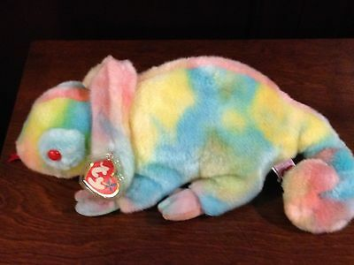Retired Ty Beanie Buddy Rainbow The Cameleon Mint With Tags