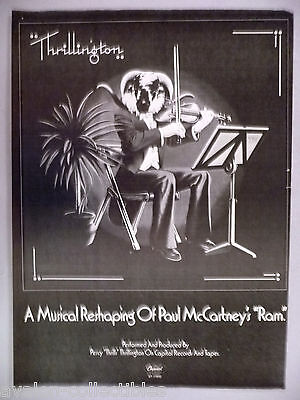 "Percy Thrillington PRINT AD - 1977 ~~ Paul McCartney's ""Ram"""