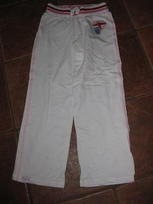 Girls NEXT white ENGLAND joggers/jogging lounge trousers 12y NWT NEW!