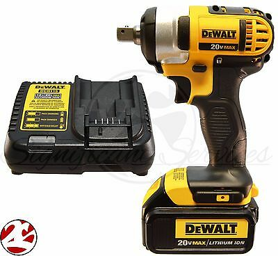 "NEW DeWALT DCF880 20V 20 Volt MAX DCB200 Battery Cordless 1/2"" Impact Wrench Kit"