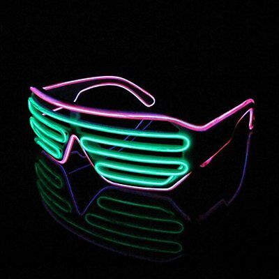 Lerway Neon El Wire LED Light Up Shutter Funny Amazing Glasses Rave Party