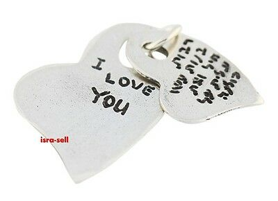 SILVER I LOVE YOU IN HEBREW CHARM - Fits European Style