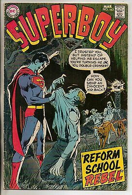 DC Comics Superboy #163 March 1970 Neal Adams Cover VG