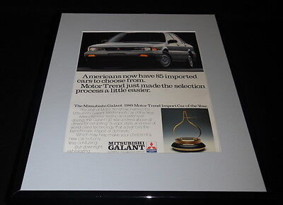 1989 Mitsubishi Galant 11x14 Framed ORIGINAL Vintage Advertisement