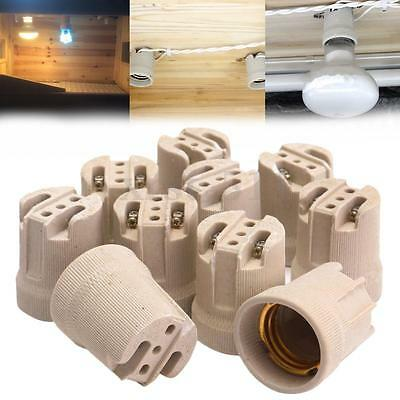 10PCS E27 ES27 Vivarium Reptile Heat Bulb Ceramic Lamp Holder Porcelain Socket