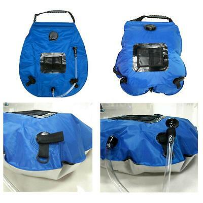 20L Sac de Douche Solaire Chauffée Solar Heated Camping Shower Bag Outdoor K5Q9