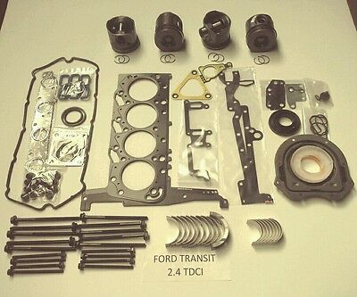 Ford Transit 2.4 TDCI Engine kit with pistons at standard