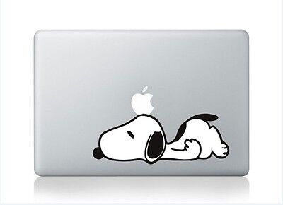 """Snoopy Laying - Macbook Air/Pro 13/15/17"""" Removable Vinyl Sticker Skin Decal"""