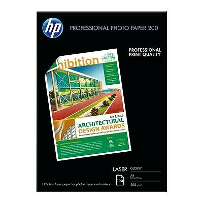 Hp A4 Professional Glossy Laser Photo Paper 200Gsm - 100 Sheets - Cg966A