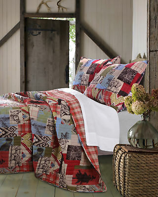 Greenland Home GL-1509GMST 2 Piece Rustic Lodge Quilt Set- Twin NEW