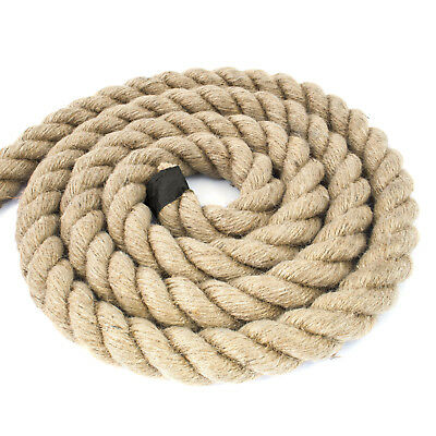 [5-50m] 40mm ROPE NATURAL jute fiber hessian hemp twisted decking cord sash
