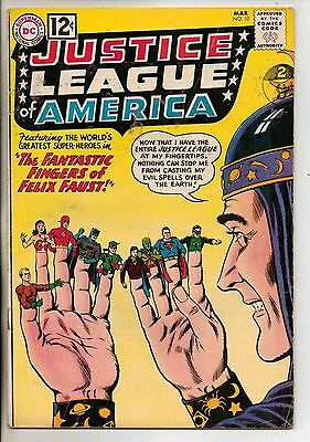DC Comics Justice League Of America #10 March 1962 1st Felix Faust F