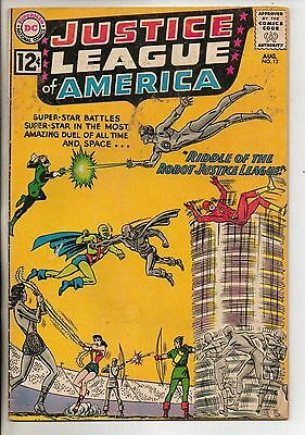 DC Comics Justice League Of America #13 August 1962 Speedy VG+
