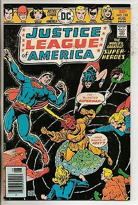 DC Comics Justice League Of America #133 August 1976 Supergirl Scarce VF+