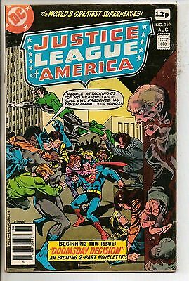 DC Comics Justice League Of America #169 August 1979 F+