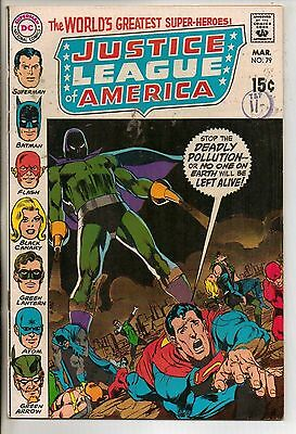 DC Comics Justice League Of America #79 March 1970 Neal Adams Cover VF