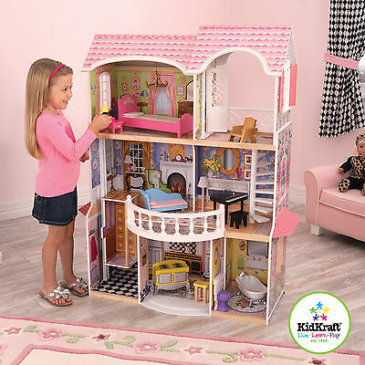 KIDKRAFT Magnolia Mansion Dollhouse with Furniture 65839