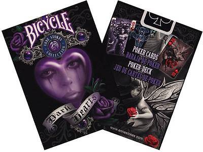 Lot 2 Deck Set Bicycle Anne Stokes II Fantasy Art Playing Cards Dark Hearts Pack