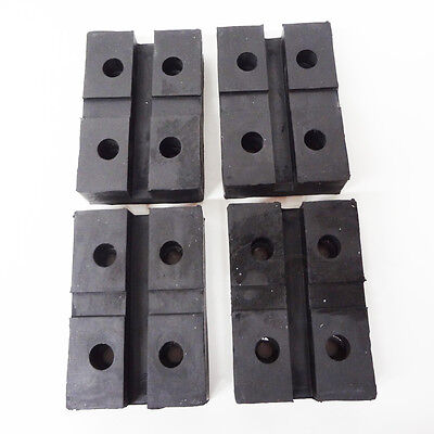 Rectangular Rubber Arm Pad For Globe Lift -Set Of 4 Pads- Rectangle 4 Bolt Style