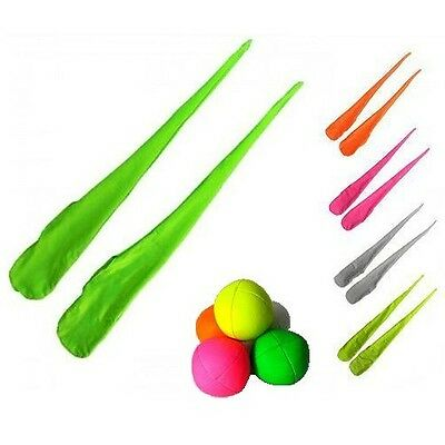 UV Poi Socks with 3 UV Juggling Balls - Practice Fabric Poi - Juggling Spinning