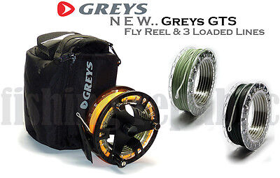 *NEW* Greys GTS500 CASSETTE FLY REEL & 3x LOADED LINES & SPARE SPOOL Options