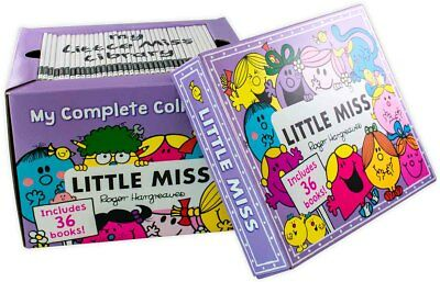 Little Miss Complete Collection 36 Books Box Gift Set By Roger Hargreaves New