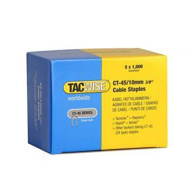 """5000 x 10mm TACWISE RAPESCO CT45 Cable Wire Tacker Staples (3/8"""") GALV 0352"""