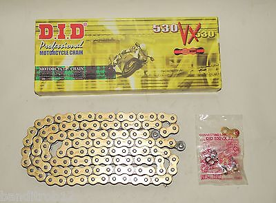 DID Gold X-Ring Chain For Yamaha XJR1300 99-15 FZS600 Fazer 98-03 VX 530-110
